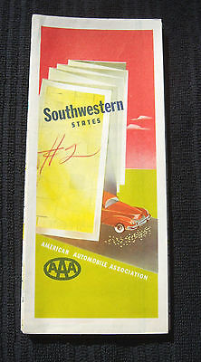 Vintage Southwestern United States AAA Travel Map