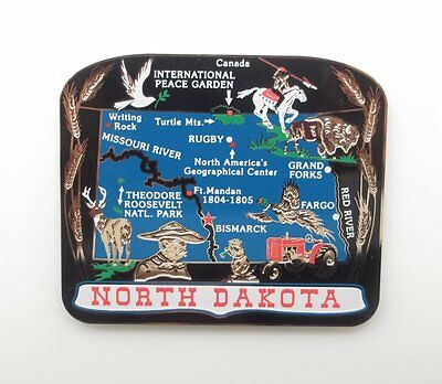 North Dakota State Magnet Souvenir Travel Gift