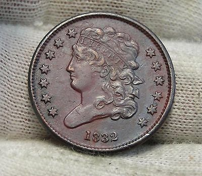 1832 Classic Head Half Cent - Nice Coin - Rare, Only 51,000 Minted (5509)