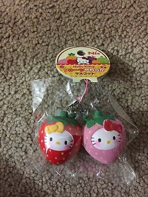 Sanrio Hello Kitty Scented Twin Strawberries Squishy New In Package