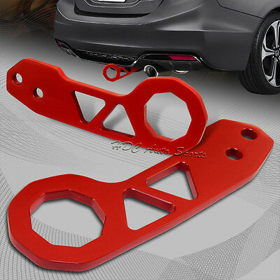 """2"""" JDM Red Rear Anodized Billet Aluminum Racing Towing Hook Tow Kit Universal 1"""