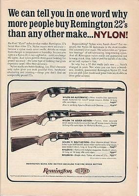 Vintage Magazine Ad - 1963 - Remington Nylon 66, 76, 11