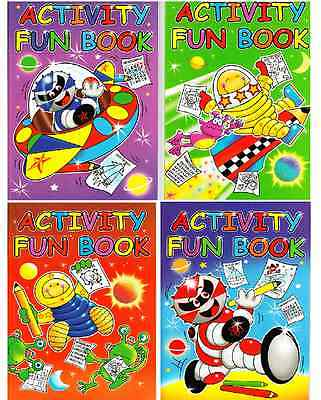 SET OF 4 x A4 ACTIVITY FUN PUZZLE & COLOURING BOOKS CHILDRENS NEW SERIES 3205