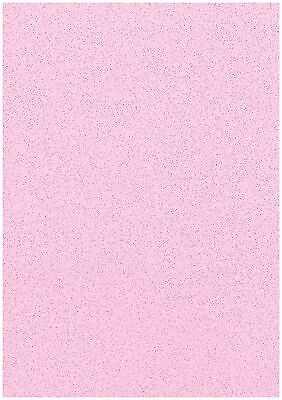 Pack Of 20 Sheets Soft Baby Pink A4 Stardust Glitter Paper Sparkle Craft 120gsm