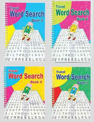 SET OF 4 x A5 SPIRAL BOUND BIG 102 PAGE NEW WORD SEARCH PUZZLE BOOKS SERIES 3130