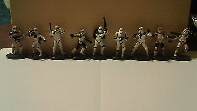 9 piece lot - Star Wars Miniatures Troopers --- All different