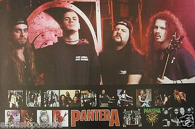 """PANTERA """"GROUP SHOTS & LOGO"""" POSTER FROM ASIA - Heavy Metal Music"""