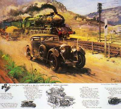 "Bentley V ""blue Train""--Terence Cuneo--Large Print--Bargain Price"
