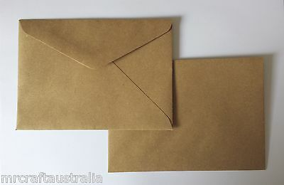 40 Envelopes 130mm x185mm BROWN KRAFT Quality fits 5 x 7 fits PHOTO 90GSM