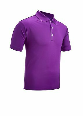 Adidas Performance Golf Polo Shirt Purple Large
