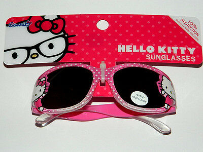 BNWT GIRLS HELLO KITTY pink spot SUNGLASSES 100% UV PROTECTION
