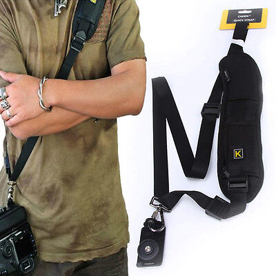 Anti-Slip Quick Sling Camera Shoulder Belt Strap DLSR Canon Sony Nikon Pentax