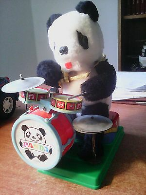 Giocattolo Vintage A Pile ' Made In Japan ' :  '' Panda Con Batteria  ''  !!!!!