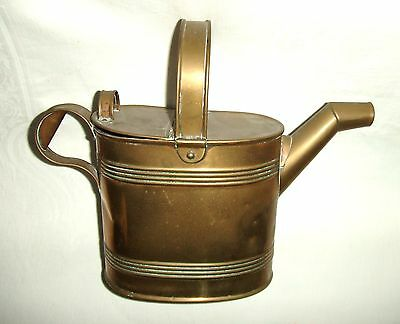 Antique/Vintage Brass Hot Water Can / Watering Can ~ 5 Pint Capacity
