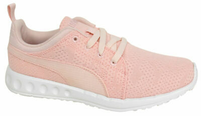 db880c15199 Puma Carson Runner Mesh Unisex Trainers Running Shoes Pink Lace Up 189173  01 D50