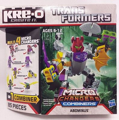 NEW Hasbro KRE-O Transformers ABOMINUS Micro Changers Combiners A4473 / A2204