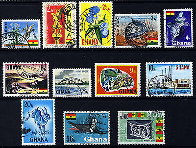 GHANA 1967 Pictorial Part Set SG 460 to SG 472 VFU