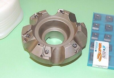"""NEW INGERSOLL S-Max 4"""" Heavy Feed 45° Face Mill w/ Inserts (SN6N-04R01)"""