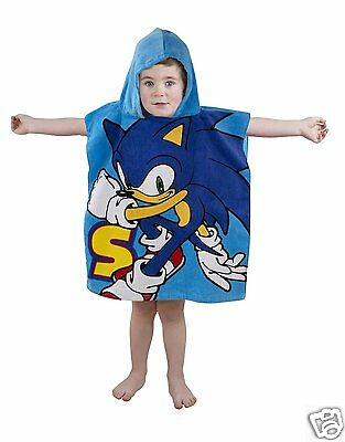 Sonic the Hedgehog Kids Hooded Poncho Towel - Ideal for bath, pool or beach!