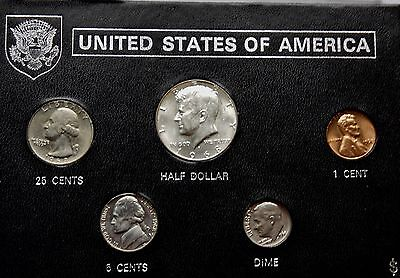 USA UNCIRCULATED Set 1968 Kennedy Half To Cent