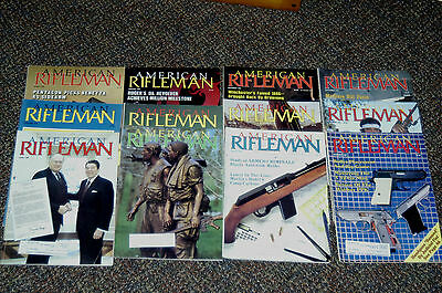 Vintage Lot of 1985 Complete Year American Rifleman Magazines -12 Issues
