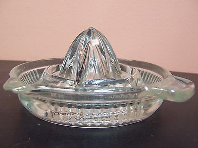 "Clear Glass Citrus Juicer Reamer 5"" Diameter - A Couple Of Chips"