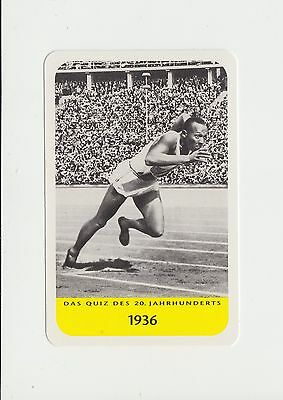 Athletics : Jesse Owens : German collectable game card