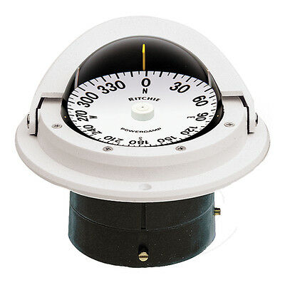 Ritchie F-82W Voyager Compass - Flush Mount - White -F-82W