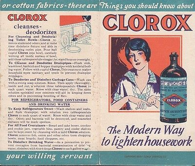Vintage 1929 Clorox Chemical Co Oakland CA Brochure Various Uses of Clorox