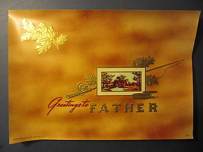 Wholesale Lot of 25 Original Old - GREETINGS TO FATHER - Inner CIGAR LABELS