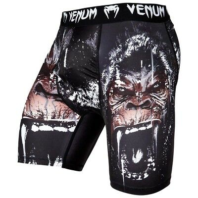 VENUM Compression Shorts, Gorilla, schwarz, MMA Hosen, Kompression, Fitness