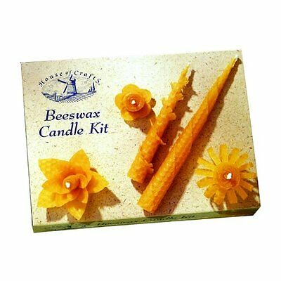 Natural Bees Wax Rolled Candle Making Starter Kit House Of Crafts Gift Set Mk002