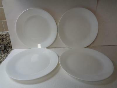 4 Corelle Corning White WINTER FROST 10.25 inch Dinner Plates