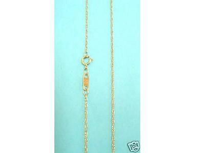 10K Solid Gold Lite Rope Link Chain 16 18 20  22  24 inches