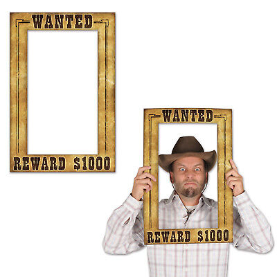 WILD WEST WANTED POSTER PHOTO FUN SIGNS PROPS Birthday Party Dance