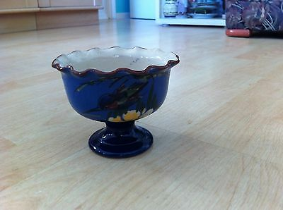 Longpark Torquay Devon Ware Kingfisher Footed Bowl