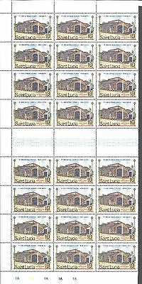 St. Lucia - Scott's # 867 Partial Sheet Of 24, Mint Never Hinged, No Seperations