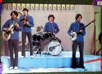"""1960S Vintage *the Monkees* Concert Poster 20X29"""" Must See@@@!!!d"""