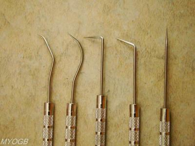 "Set of 5 Crevice Tools - Gold Mining - Prospecting - 5-1/2"" Pocket size - Gems"