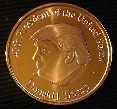 1 Oz Copper Round Donald J Trump 45Th President Of The United States