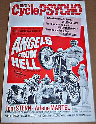 Angels From Hell (1968) Cycle Psycho! Original Pressbook !