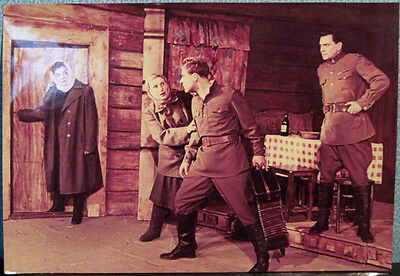 1950's Vintage Photo with Stage Scene from the Soviet play in Soviet Theatre