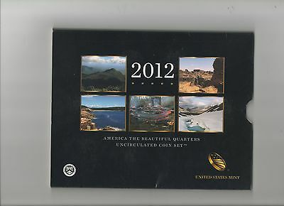2012 America The Beautiful Us Mint Uncirculated 10 Coin Set Nice Look