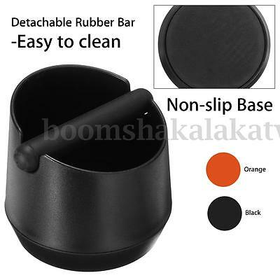 Coffee Knock Box Slag Bucket With Rubber Bar For Espresso Grind Waste Bin New