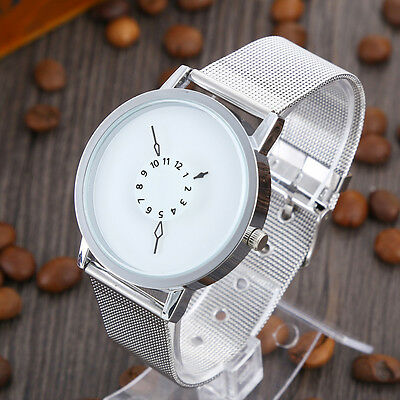 Fashion Women Men Casual Watch Gold Stainless Steel Quartz Analog Wrist Watches