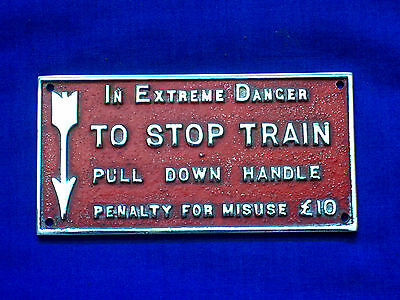 Sar To Stop Train Sign Plaque - From Old Red Hen - South Australian Railways