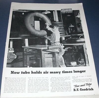 1946 Goodrich tires Ad ~ new tube ~ synthetic rubber