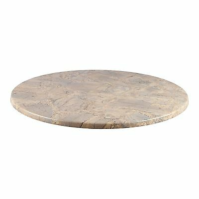 "New 42"" Round Brushed Silver Outdoor/indoor Resin Table Top Restaurant Furniture"