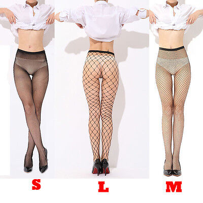 Black/Red Fishnet Pantyhose Nylons Hosiery Stockings Neon Retro Costume
