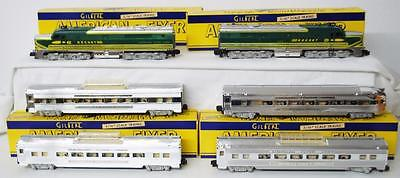 1953 American Flyer 5364W Silver ROCKET CHROME 6pc Diesel Passenger Set 474 475